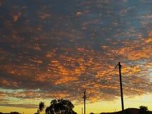 De zonsopgang van Cooberpedy south australia de binnenland natuurlijke kleuren Royalty-vrije Stock Foto's