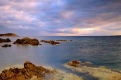 De zonsopgang van Corsica Stock Foto