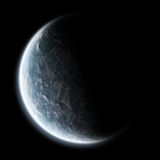 De zonsopgang van de aarde - de exploratie van het Heelal Royalty-vrije Stock Afbeeldingen