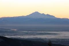 De zonsopgang van de berg Royalty-vrije Stock Afbeeldingen