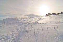De zonsopgang van de berg Stock Foto