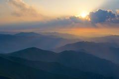 De zonsopgang van de berg Royalty-vrije Stock Foto's
