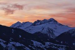 De zonsopgang van de berg Stock Afbeeldingen