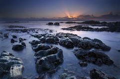 De Zonsopgang van de oceaan Stock Afbeelding
