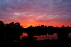 De zonsopgang van de ochtend Stock Afbeeldingen