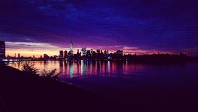 De Zonsopgang van de Stad van New York Stock Afbeelding
