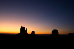 De Zonsopgang van de Vallei van het monument Stock Afbeelding