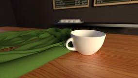 De Zonsopgang van de Winkel van de koffie Royalty-vrije Stock Foto