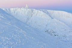 De zonsopgang van de winter Stock Afbeelding