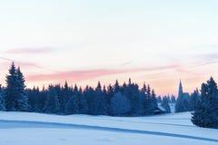 De Zonsopgang van de winter Stock Afbeeldingen