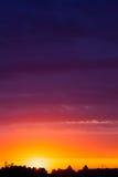 De zonsopgang van de zomer royalty-vrije stock afbeeldingen