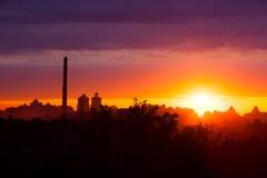De zonsopgang van de zomer royalty-vrije stock foto's