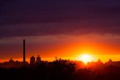 De zonsopgang van de zomer stock fotografie