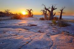 De zonsopgang van het Kubueiland stock fotografie