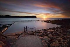 De zonsopgang van het Macmastersstrand Stock Afbeelding