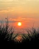 De Zonsopgang van het strand stock fotografie