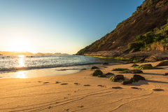 De Zonsopgang van het strand royalty-vrije stock foto
