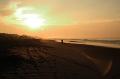 De zonsopgang van het strand, Noord-Carolina stock foto's