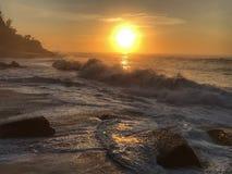 De Zonsopgang van het strand royalty-vrije stock fotografie