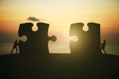 De zonsopgang van het vennootschapconcept royalty-vrije stock afbeelding