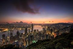 De zonsopgang van Hongkong Royalty-vrije Stock Foto's