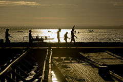 De zonsopgang van Ironman Stock Foto