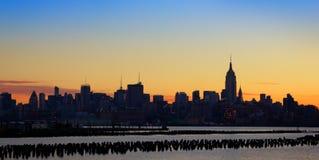 De zonsopgang van Manhattan Royalty-vrije Stock Foto's