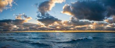 De zonsopgang van meermichigan Stock Fotografie