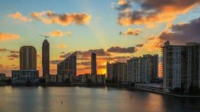 De zonsopgang van Miami stock video