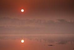 De zonsopgang van New Delhi Royalty-vrije Stock Foto's