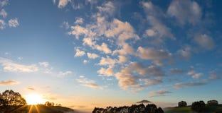 De zonsopgang van Nieuw Zeeland Stock Foto's