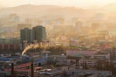 De Zonsopgang van Noord-Korea stock foto's
