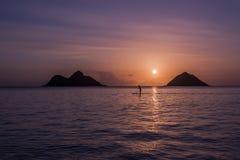 De zonsopgang van Oahu stock afbeelding