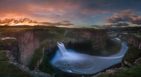 De zonsopgang van Palousedalingen Stock Afbeeldingen
