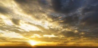 De zonsopgang van de panoramamening Royalty-vrije Stock Afbeelding