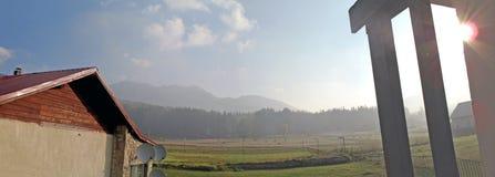 De zonsopgang van Roemenië Prahova Cheia Royalty-vrije Stock Foto's