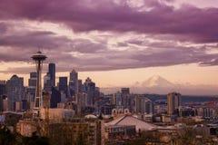 De Zonsopgang van Seattle Royalty-vrije Stock Afbeelding