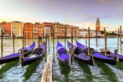 De zonsopgang van Venetië, Italië Stock Foto
