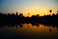 De zonsopgang van Wat van Angkor Royalty-vrije Stock Afbeeldingen