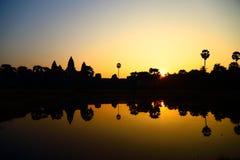 De zonsopgang van Wat van Angkor Royalty-vrije Stock Afbeelding