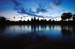 De zonsopgang van Wat van Angkor Stock Foto