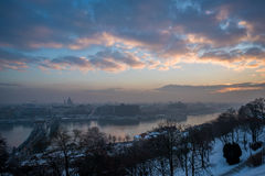 De zonsopgangmening van Boedapest Royalty-vrije Stock Foto