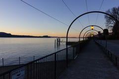 de zonsopgangverbania van de lago maggiore kust royalty-vrije stock afbeeldingen