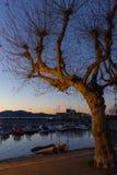 de zonsopgangverbania van de lago maggiore kust royalty-vrije stock fotografie