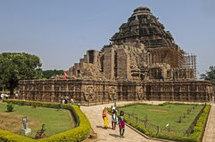 De zontempel van konark, India Stock Foto