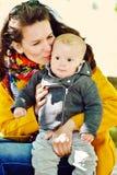 De zoon van de moeder en van de baby Royalty-vrije Stock Afbeelding