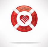 De Zorg en de Steun van de klantendienst stock afbeelding