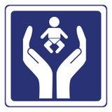 De zorg van de baby Stock Afbeelding