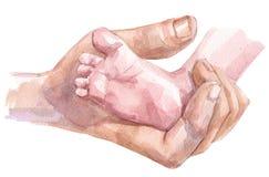 De zorg van de baby vector illustratie