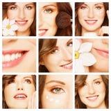 De zorg van de schoonheid, van de make-up en van de huid Stock Afbeeldingen